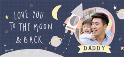 Mugs - Daddy Love You To The Moon & Back Photo Upload Father's Day Mug  - Image 4