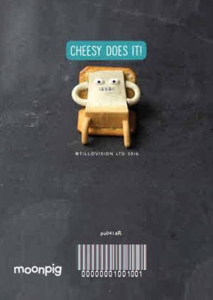 Christmas Cheese Puns.Cheese Pun Birthday Card