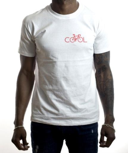 T-Shirts - Red Bicycle In Cool Text Printed T-Shirt - Image 2
