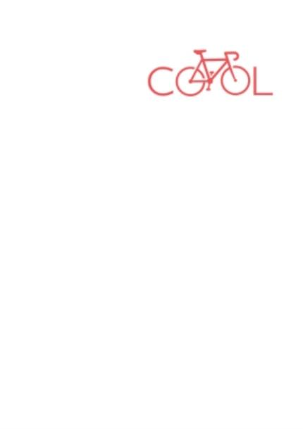 T-Shirts - Red Bicycle In Cool Text Printed T-Shirt - Image 4