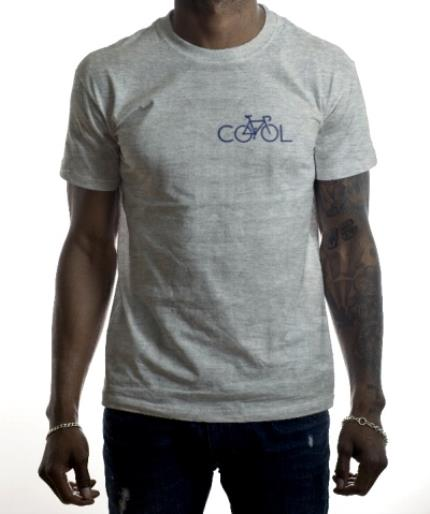 T-Shirts - Navy Bicycle In Cool Text Printed T-Shirt - Image 2