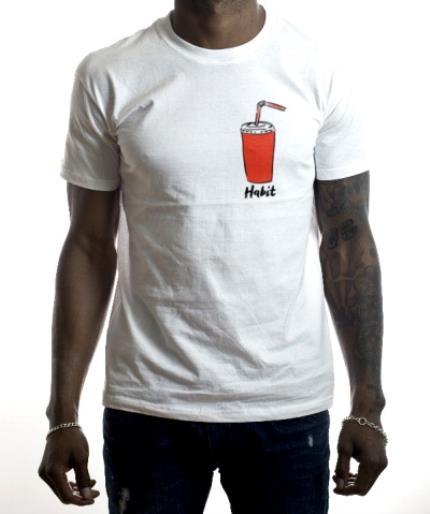 T-Shirts - Coke Habit Funny White T-Shirt - Image 2
