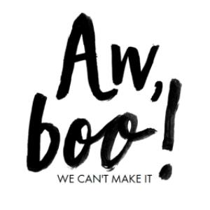 Greeting Cards - Aw Boo We can't Make It Regrets Card - Image 1