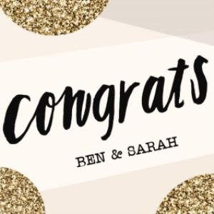 Greeting Cards - A Little Bit Of Sparkle Personalised Congratulations Card - Image 1