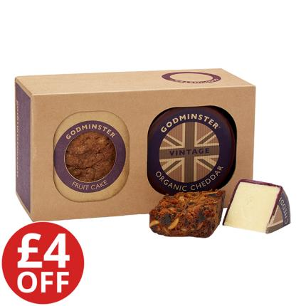 Food Gifts - Godminster Cheddar & Fruit Cake Combo - WAS £24 NOW £20 - Image 1