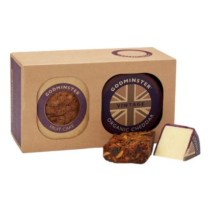 Food Gifts - Godminster Cheddar & Smoked Cheese Combo - Image 1