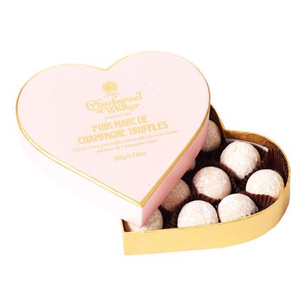 Food Gifts - Pink Marc De Champagne Truffles 200g - NEW! - Image 1