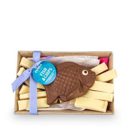Food Gifts - James Chocolates Fish & Chip Gift Box - Image 1