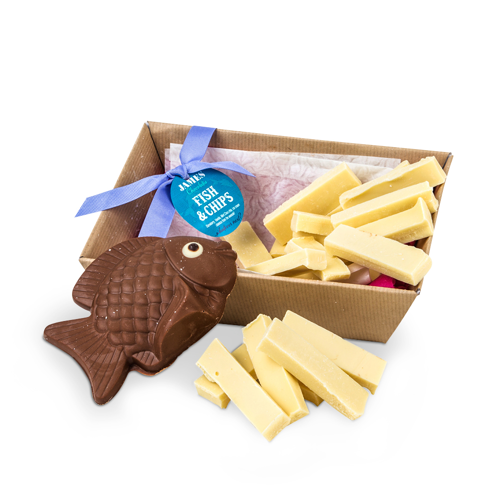 Food Gifts - James Chocolates Fish & Chip Gift Box - Image 2