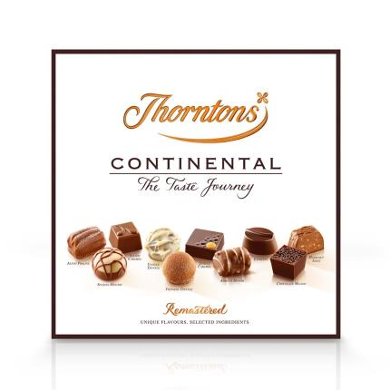 Food Gifts - Thorntons Large Continental Chocolate Box 432g - Image 1