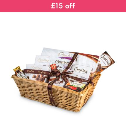 Food Gifts - Guylian Assortment Basket WAS £60 NOW £45 - Image 1