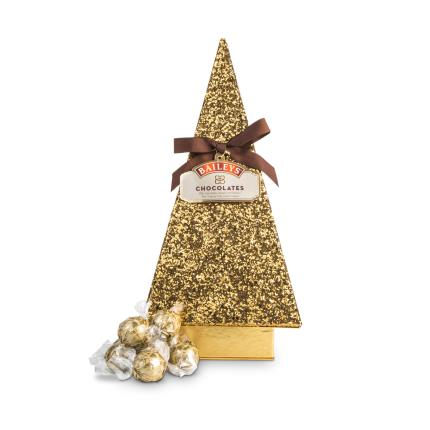 Food Gifts - Baileys Christmas Chocolate Truffles in Glitter Tree Box - Image 1