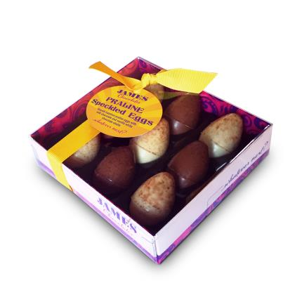 Food Gifts - James Chocolate Praline Speckled Eggs - Image 1