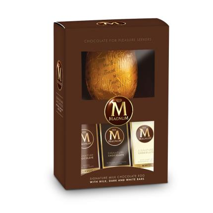 Food Gifts - Magnum Milk Egg with White and Dark Chocolate Bars - Image 1