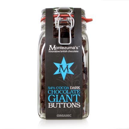 Food Gifts - Montezuma Giant Dark Chocolate Buttons In Kilner Jar - Image 1