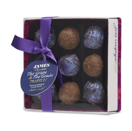 Food Gifts - James Chocolates Grape & Grain Chocolate Truffle Box - Image 1