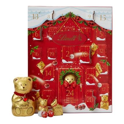 Food Gifts - Lindt Teddy Christmas Advent Calendar - Image 1