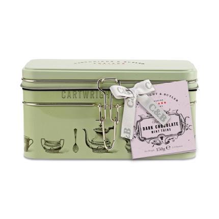 Food Gifts - Cartwright & Butler Dark Chocolate Mint Gift Tin - Image 1