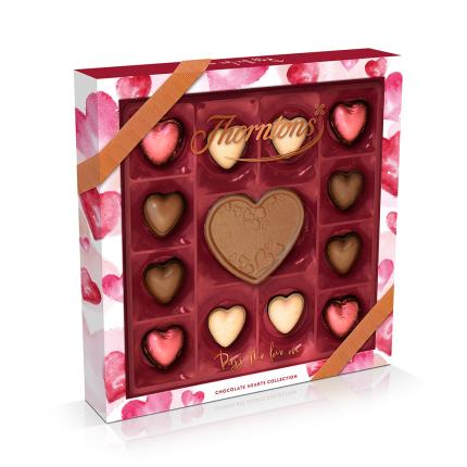 Food Gifts - Thorntons Chocolate Hearts Collection Gift Box - Image 1