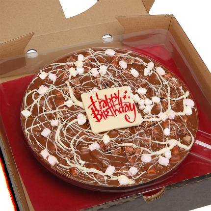 Food Gifts - Happy Birthday Chocolate Pizza - Image 1