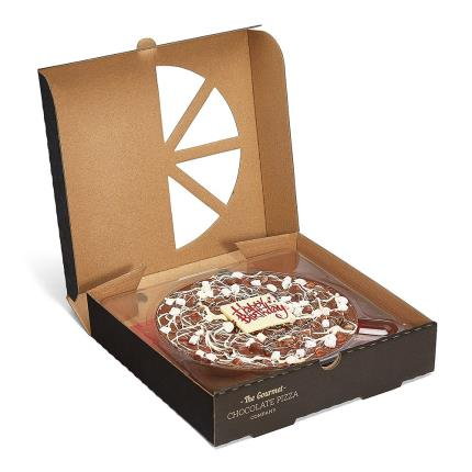 Food Gifts - Happy Birthday Chocolate Pizza - Image 2