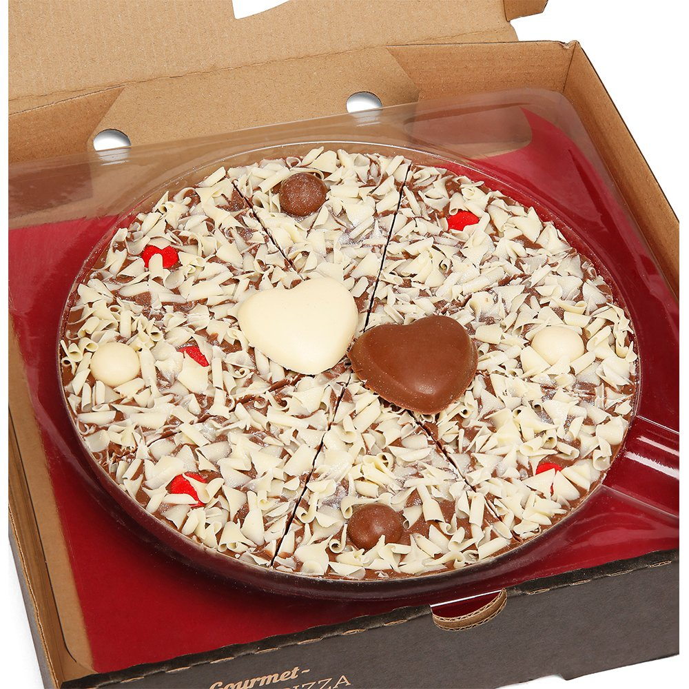 Food Gifts - The Gourmet Chocolate Pizza Company I Love You Pizza - Image 1