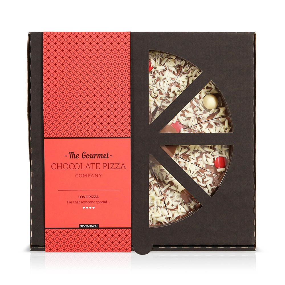 Food Gifts - The Gourmet Chocolate Pizza Company I Love You Pizza - Image 2