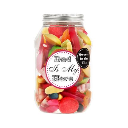 Food Gifts - Dad Is My Hero Chocolate Minis Jar - Image 1
