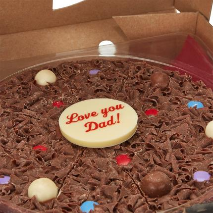 Food Gifts - 'Love You Dad' Chocolate Pizza - Image 2