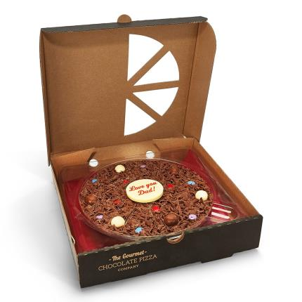 Food Gifts - 'Love You Dad' Chocolate Pizza - Image 4