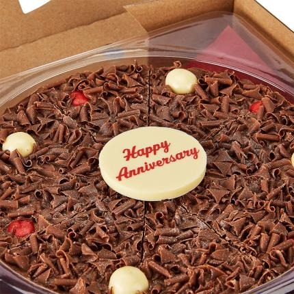 Food Gifts - Happy Anniversary Chocolate Pizza - Image 1