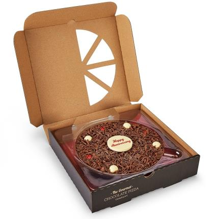 Food Gifts - Happy Anniversary Chocolate Pizza - Image 2