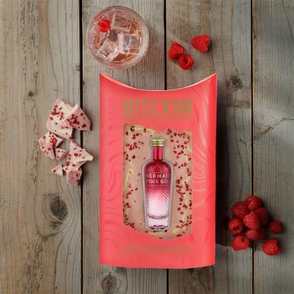 Food Gifts - Pink Gin & Luxury White Chocolate Bar - Image 2
