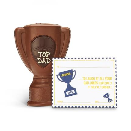 """Food Gifts - """"Top Dad"""" Chocolate Trophy with Dad Vouchers - Image 2"""