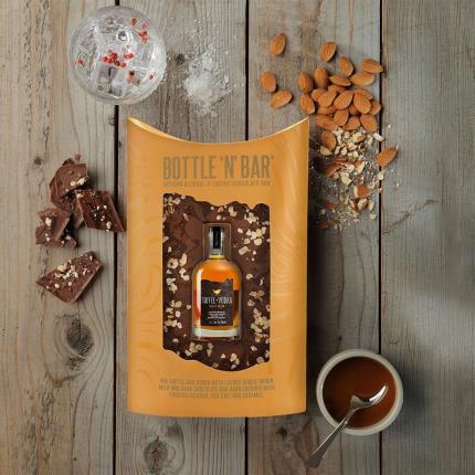 Food Gifts - Salted Caramel Vodka & Luxury Milk Chocolate Bar - Image 1