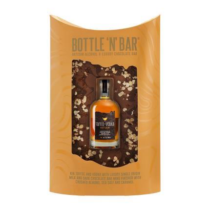 Food Gifts - Salted Caramel Vodka & Luxury Milk Chocolate Bar - Image 2