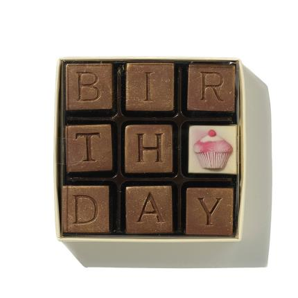 Food Gifts - Choc on Choc Birthday Chocolate Box - Image 1