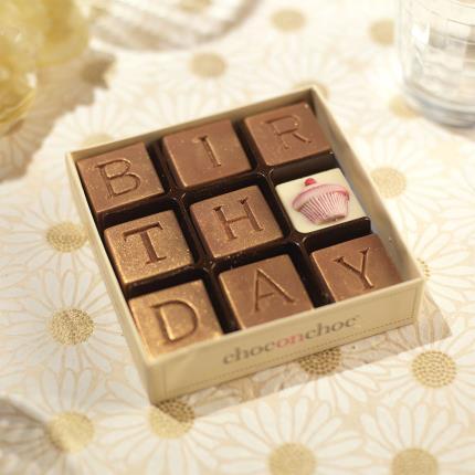 Food Gifts - Choc on Choc Birthday Chocolate Box - Image 2