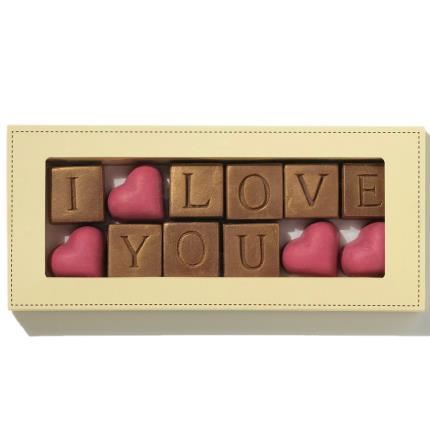 Food Gifts - Choc on Choc I Love You Chocolates - Image 1