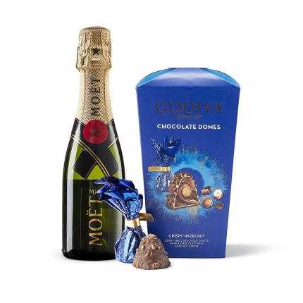Food Gifts - Godiva Chocolate Domes & Moët Gift Set - Image 1