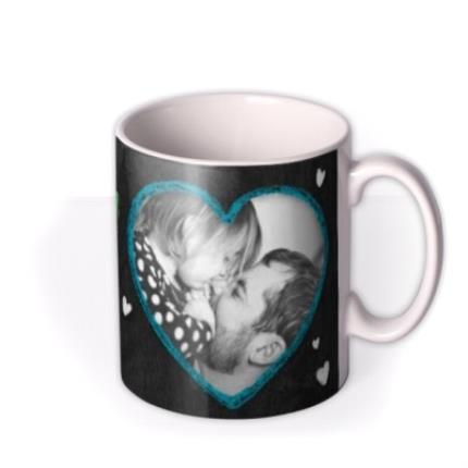 Mugs - Father's Day Love You Daddy Chalkboard Photo Upload Mug - Image 2