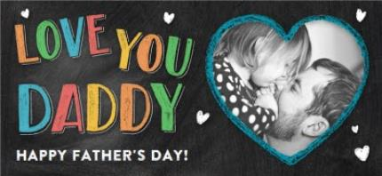 Mugs - Father's Day Love You Daddy Chalkboard Photo Upload Mug - Image 4