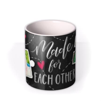 Mugs - Puzzle Piece Made For Each Other Photo Upload Mug - Image 3