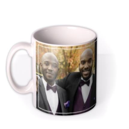 Mugs - Wedding Best Man Chalkboard Photo Upload Mug - Image 1