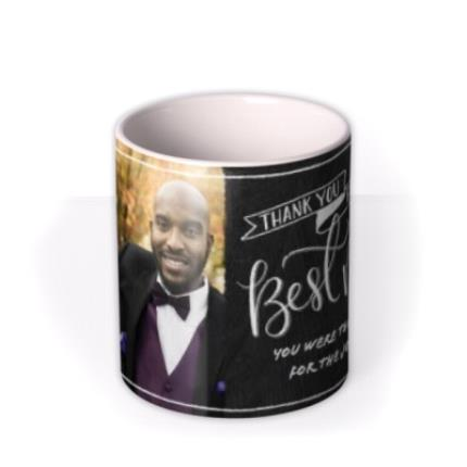 Mugs - Wedding Best Man Chalkboard Photo Upload Mug - Image 3