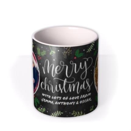 Mugs - Merry Christmas Chalkboard Photo Upload Mug - Image 3