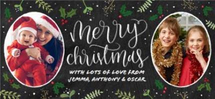 Mugs - Merry Christmas Chalkboard Photo Upload Mug - Image 4