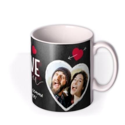 Mugs - Valentine's Day 2 Chalk Heart Photo Upload Mug - Image 2