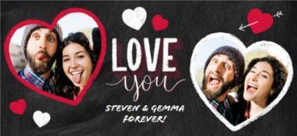 Mugs - Valentine's Day 2 Chalk Heart Photo Upload Mug - Image 4
