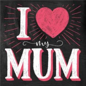 Greeting Cards - I Heart My Mum Card - Image 1